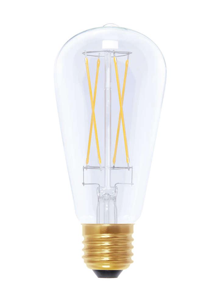 LED Rustikalampe LongStyle - Klar - E-27 - 6,0 Watt / 40 Watt ...