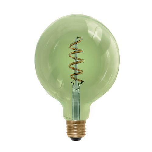 LED Globe Lampe Curved Smokey-Green  E-27 - 8,0 Watt (30W)  2.000 Kelvin - Dimmbar  T-125