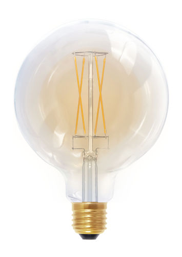 "LED Globe Lampe ""Golden-Glass"" - E-27 6,0 Watt (30W) - 2.000 K Dimmbar - T-125"