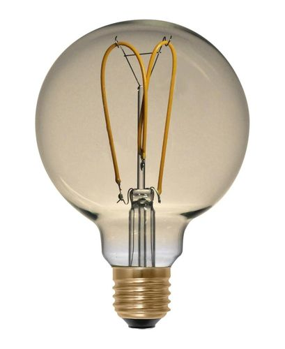 LED Globe Lampe Gold E-14 - 4,0 Watt (15W) 2.000 Kelvin - Curved Dimmbar - T-80