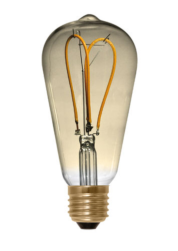 LED Glühbirne Rustika E-27 - 4,0 Watt (15W) 2.000 Kelvin - Dimmbar Golden Glass - Klar Curved - Loop