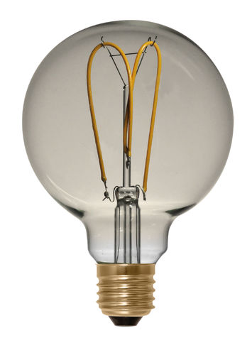 LED Globe Lampe Gold E-27 - 4,0 Watt (15W) 2.000 Kelvin - Dimmbar Curved - T-125