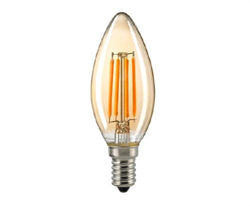 "LED Kerzenlampe - Klar  E-14 - 4,5 Watt (35W)  2.400 Kelvin - Dimmbar ""Golden Glass"""