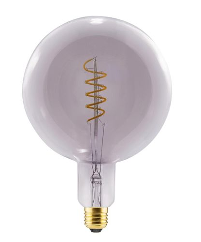 LED Globelampe Grand E-40 - 8,0 Watt (21W) 2.000 Kelvin - Dimmbar Curved - Smokey Grey T-200