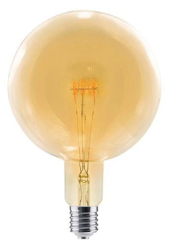 LED Globelampe Grand E-40 - 8,0 Watt (28W) 2.000 Kelvin - Dimmbar Curved - Golden Glass T-200