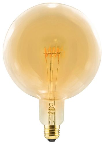 LED Globelampe Grand E-27 - 8,0 Watt (28W) 2.000 Kelvin - Dimmbar Curved - Golden Glass T-200
