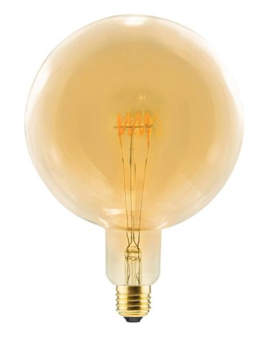 LED Globe Lampe Gold E-27 - 8,0 Watt (28W) 2.000K - Dimmbar Curved - T-125